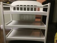White wooden 3-layer changing table London, N5W 5E4