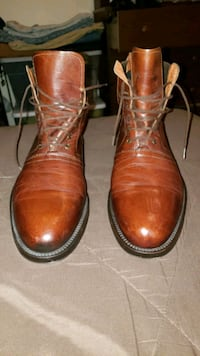 New Italian Leather Brass Boots Mens 12 Brown  Vintage Glenolden, 19036