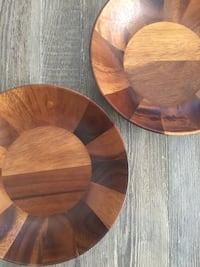 New Nambe Skye (discontinued) Wooden Salad Bowls (Set of 2)  Washington, 20001