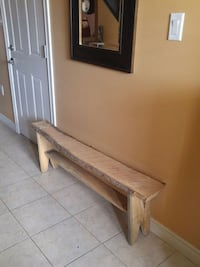 Live edge wall bench.