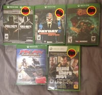 5 Sealed Xbox Games Mississauga, L4X