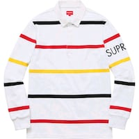 SUPREME White stripe rugby shirt, never been worn  Severn, 21144
