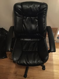 Leather managers office chair BLACK