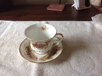 Paragon Cup and Saucer. Chippendale Pattern  Oshawa, L1H
