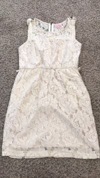 white floral lace sleeveless dress Imperial Beach