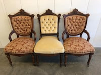 A set of 3 Antique Victorian style cushioned chairs  Vacaville, 95687