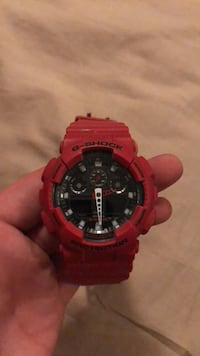round red Casio G-Shock digital watch Alexandria, 22302