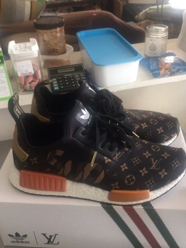 a1aabbc5e98be Adidas Custom NMD Supreme x LV Louis Vuitton not Pure Ultra Boost Size 9 R1  XR1