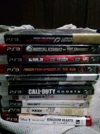 assorted PS3 game case lot Carthage, 39051