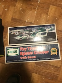 Hess Toy truck+ space cruiser + helicopter + rescue unit