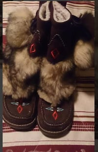 Moccasin style bootties