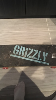 Used skateboard, spins good