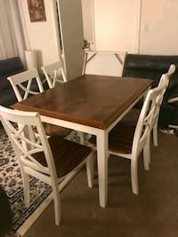Used Dining table with 5 chairs.  Alexandria, 22311