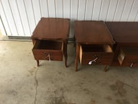 two brown wooden 2 drawer chests Smithville, 38870
