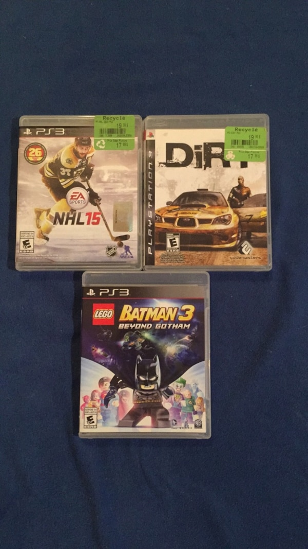 3 PS games new for 15$