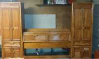 Bedroom furniture/Queen headboard with side cabinets. TONS of storage! Fort Worth
