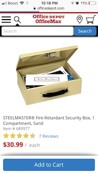 Steel master security box