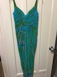 Marciano Turquoise and Green Evening Gown with Sequins Toronto, M8V 4E8