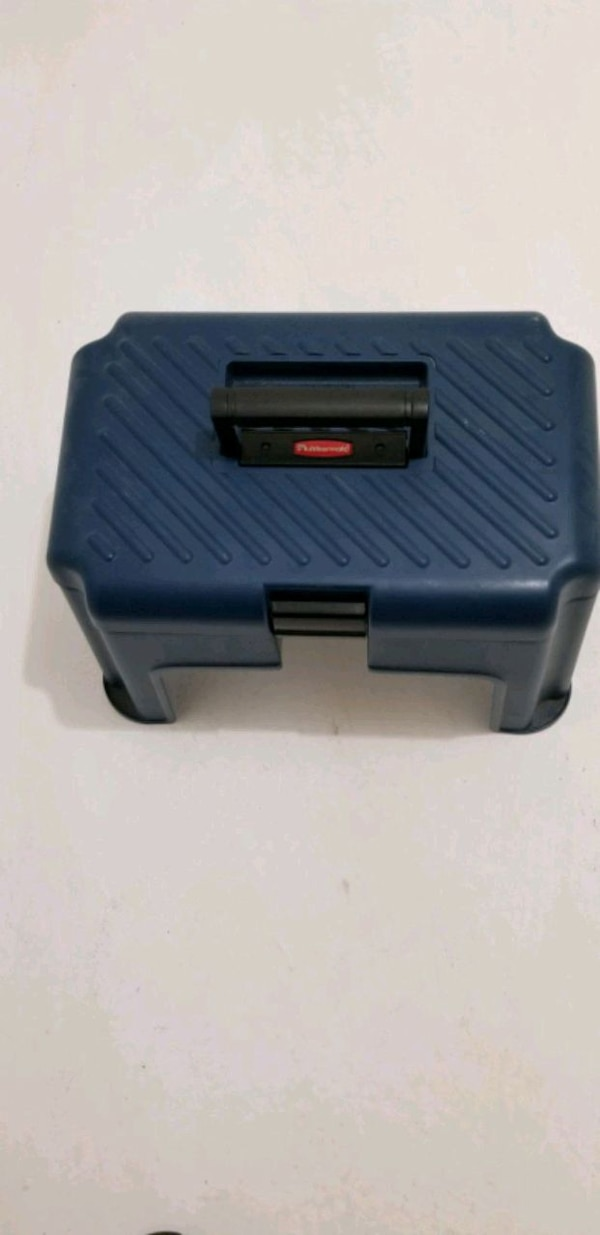 Used Rubbermaid Step Stool Tool Box For Sale In Elmwood