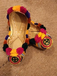 Baby Multi Color Stylish Embroidered Multani Leather Khussa -  [TL_HIDDEN]  ISLAMABAD