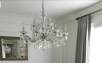 Crystal 12 light cystal chandelier $800 or best offer.