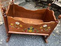 Solid Wood hand painted cradle Mississauga, L4W 2N9