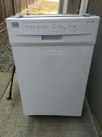 white electrolux dishwasher