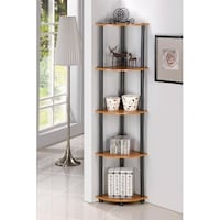 Corner Shelf Wall Shelves 5 Tier Storage Display Rack Stand Home Decor Bookcase New Orleans