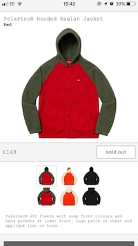 women's red and black zip-up jacket London, E9 7AB
