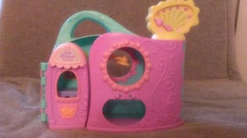 Pink and green plastic toy