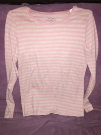 pink and white stripes sweater Moultrie