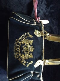 black and gold Juicy Couture leather tote bag Mission, V2V