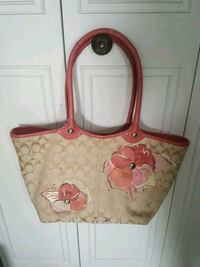 Coach flower purse