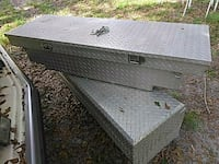 Aluminum truck saddle box