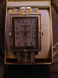 square silver analog watch with silver link bracelet West Palm Beach, 33401
