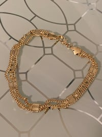 "14k Gold Plated Bracelet 7"" 5mm Nashville"
