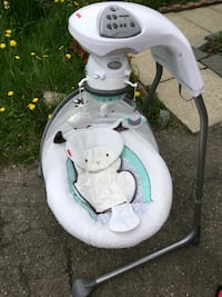 baby's white and gray cradle and swing Brampton, L6Y 4K1