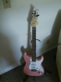 brown and white stratocaster electric guitar Harrisonburg, 22802