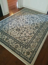 IKEA Navy  and white floral area rug 5 by 7 feet  Oakville, L6L 5Y7