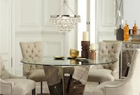 Borghese Glass Dining Room Table Seats 6 As Seen at Zgallerie Mc Lean