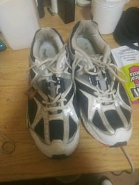 pair of white-and-black Adidas sneakers Troy, 12180