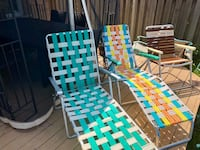 Gone today ! Foldable lounge patio chairs  Markham, L3P 6X4