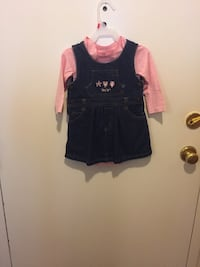 New onesie used Levi's Jeans dress 18 months  new onesie 18-24 months
