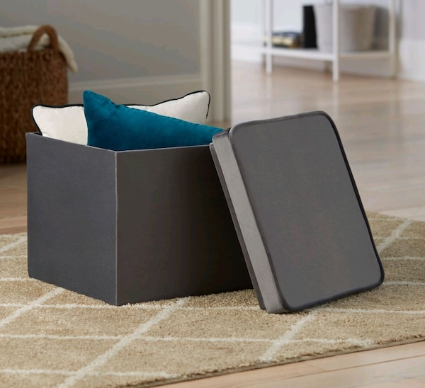 Surprising Gray Storage Ottoman Tray Toy Box 16 Gmtry Best Dining Table And Chair Ideas Images Gmtryco