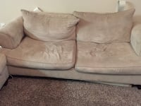 Beige fabric couch