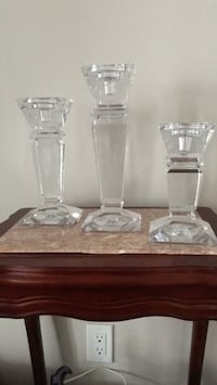 Crystal candle holder from Bowering new no damage or dent like new