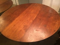 Large 6 ft ROUND TABLE w 6 chairs Grand Prairie, 75050