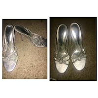 pair of silver leather flats Houston, 77060