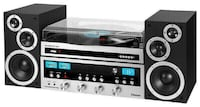 IT Vintage Stereo System and Turntable ITCDS-6000