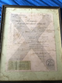 Original 1917 French Driving Permit WWI Feasterville Trevose, 19053